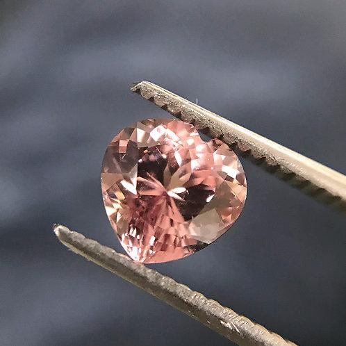 1.82 Cts Malaya Garnet Natural Loose Gemstone -Heart Shape