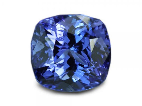 2.59 cts - Tanzanite Loose Natural Gemstones - Cushion Shape