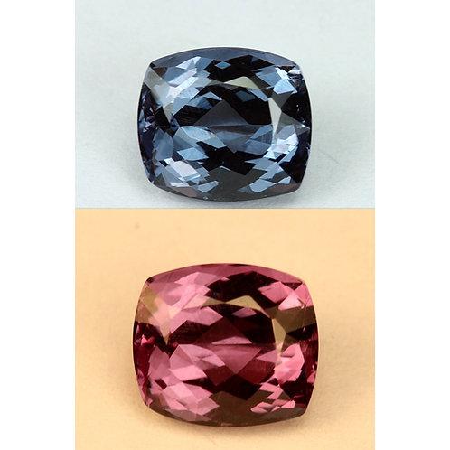 2.44 Cts - Color Change Garnet Loose Natural Gemstone - Cushion Shape