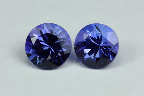 1.88 TCW - Tanzanite Loose Natural Gemstones - Round Pair