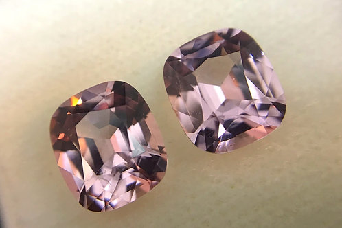 3.22 Cts - Burmese Spinel Loose Natural Gemstones - Cushion Pair