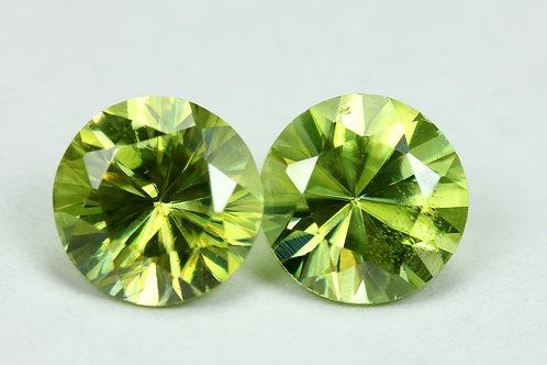2.72 TCW - Sphene Loose Natural Gemstones - Round Pair