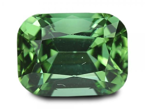 1.39 Cts - Blue- Green Tourmaline Loose Natural Gemstone - Cushion Shape
