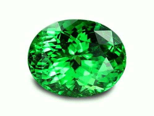 3.36 Cts - Tsavorite Garnet - Loose Natural Gemstone - Oval Shape
