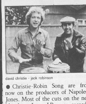 """David Christie and Jack Robinson """"IN THE BEGINNINGS"""""""