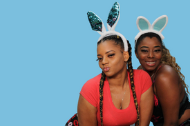 Bunny ears photo booth prop