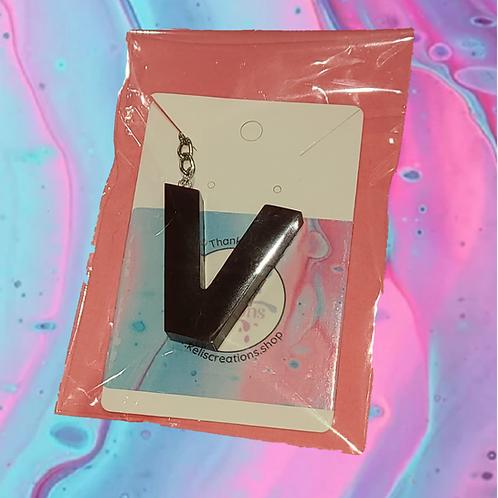 Resin Letter Keychain