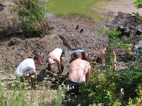Récurage de l'étang été 2015