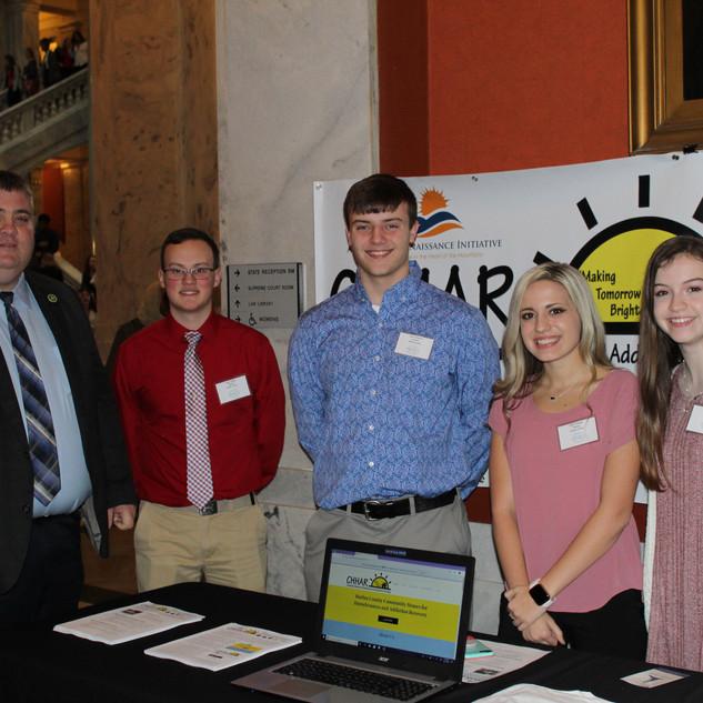 Harlan County Student Senate with Representative Chris Fugate