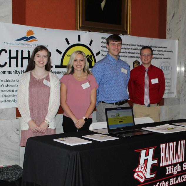 Student Senate group at the CHHAR display table