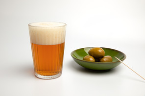 Beer and olives