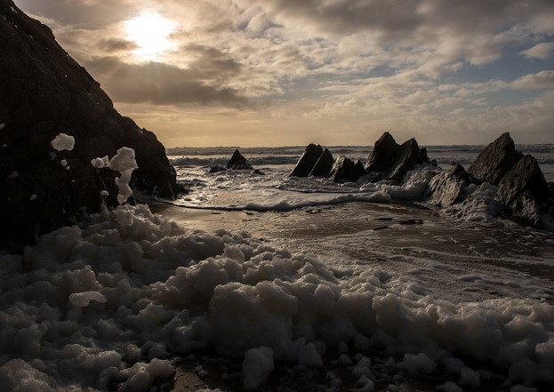 Foam sunset