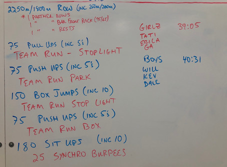 9/26/20 Saturday Team WOD