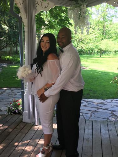Our home - backyard wedding