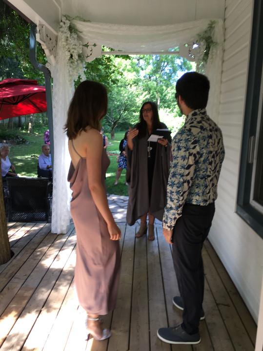 ACIM backyard wedding