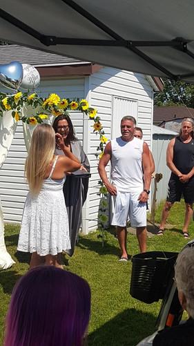Backyard Thorold Wedding