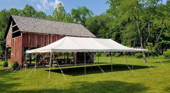20' Wide Pole Tents