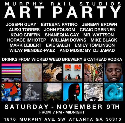 Murphy Rail Studios, Art Party, Nov. 2019