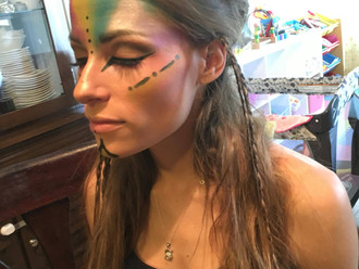 On-Location - American Indian Headdress - Shaelynn Kimber & Vi Pa
