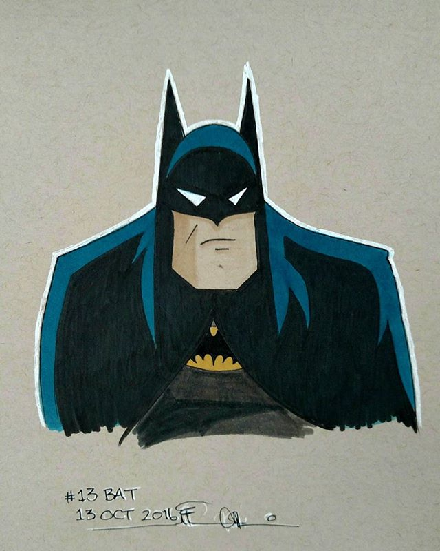 #inktober no 13 #bat #batman #batmantas