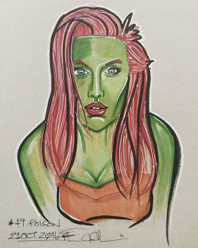 #inktober no 19 #poison a pretty bad poison ivy 😞