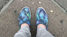 I painted my shoes.
