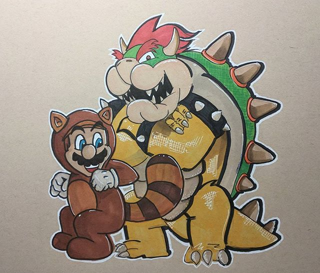 Tanooki and Bowser