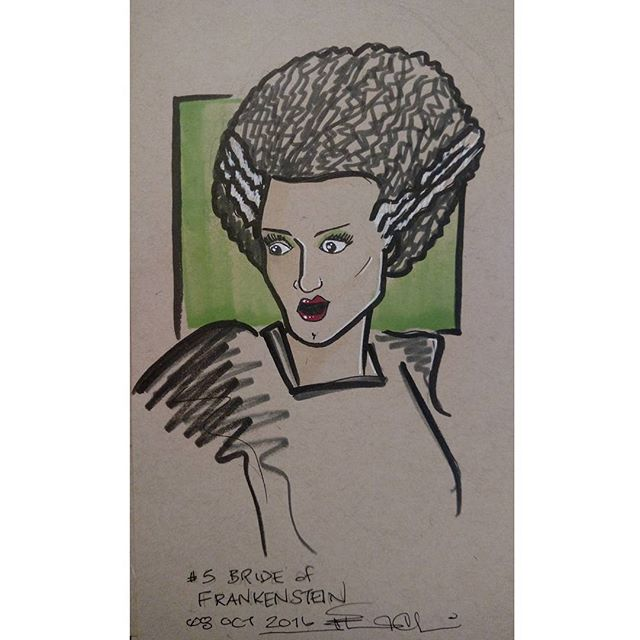 #inktober no 5 #brideoffrankenstein