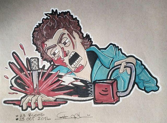 #inktober no 23 #blood #ash #evildead _who's laughing now__