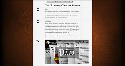 dictionary of obscure sorrows screen sho