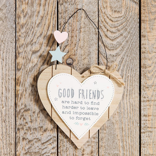 Friends Hanging Plaque Sign Gift