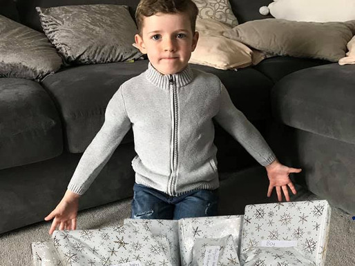6yr old boy donates toys/games for children