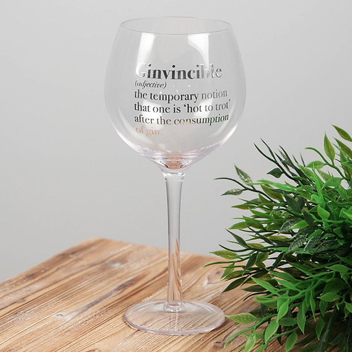 Unique Gift Gin Glass