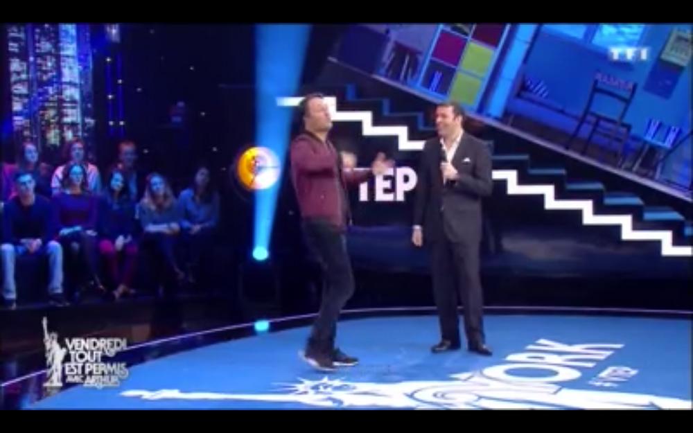 David Serero Vendredi Tout Est Permis avec Arthur sur TF1