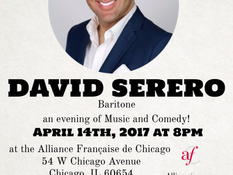 David Serero to perform at the Alliance Française of Chicago