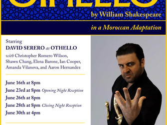 DAVID SERERO starring as OTHELLO in NEW YORK this June