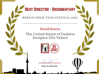 David Serero wins Best Director Documentary Award for his film about Fashion designer Elie Tahari.