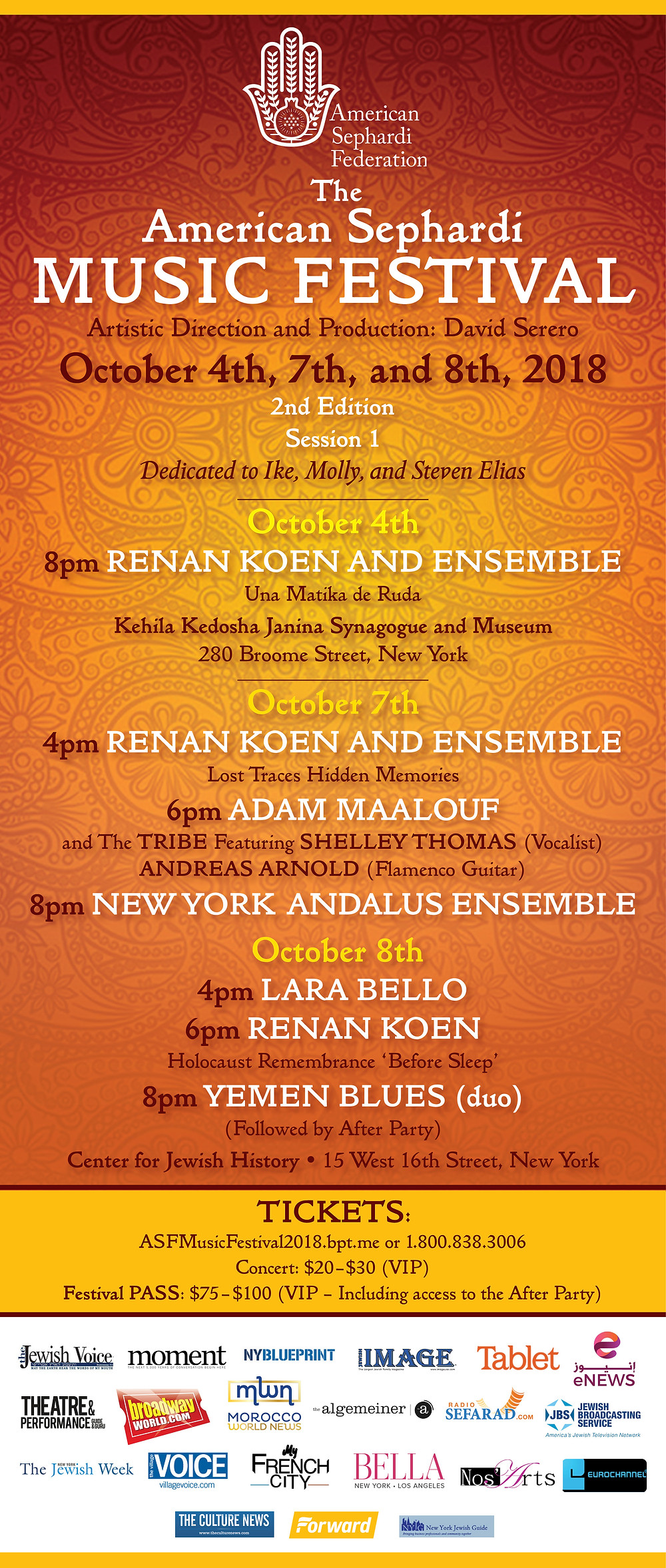 American Sephardi Music Festival - 2nd Edition