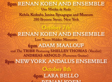 The 2nd Edition of the AMERICAN SEPHARDI MUSIC FESTIVAL Session 1 announces its lineup!