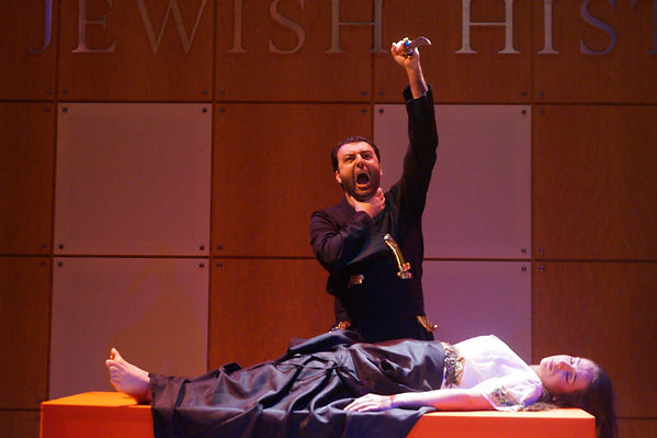 David Serero as Othello in a Moroccan style - Off Broadway production