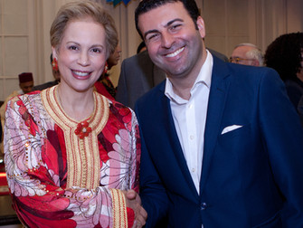 David Serero sings for Princess of Morocco Lalla Joumala in Washington D.C for the Feast of Throne