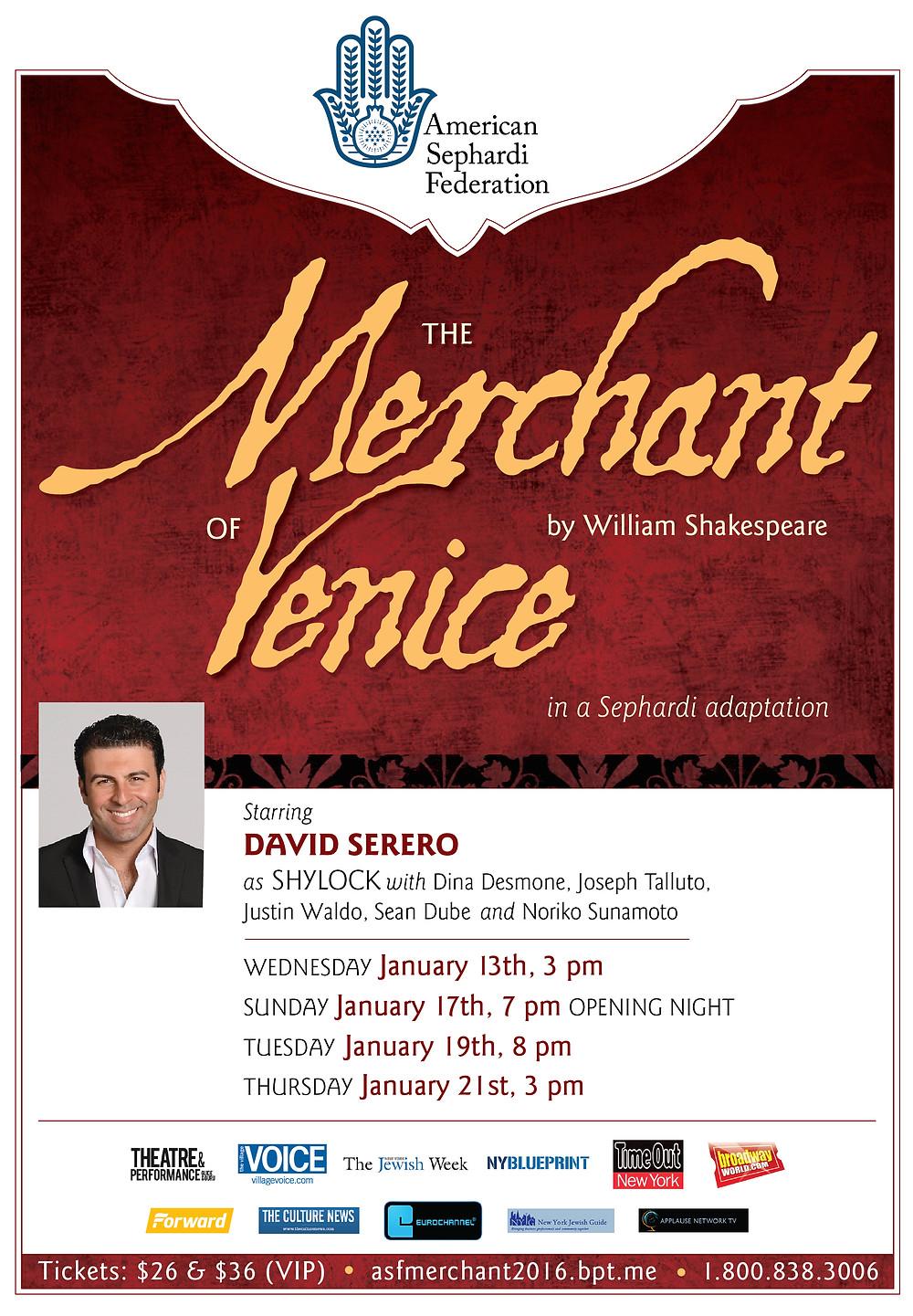 The Merchant of Venice - David Serero - Center for Jewish History