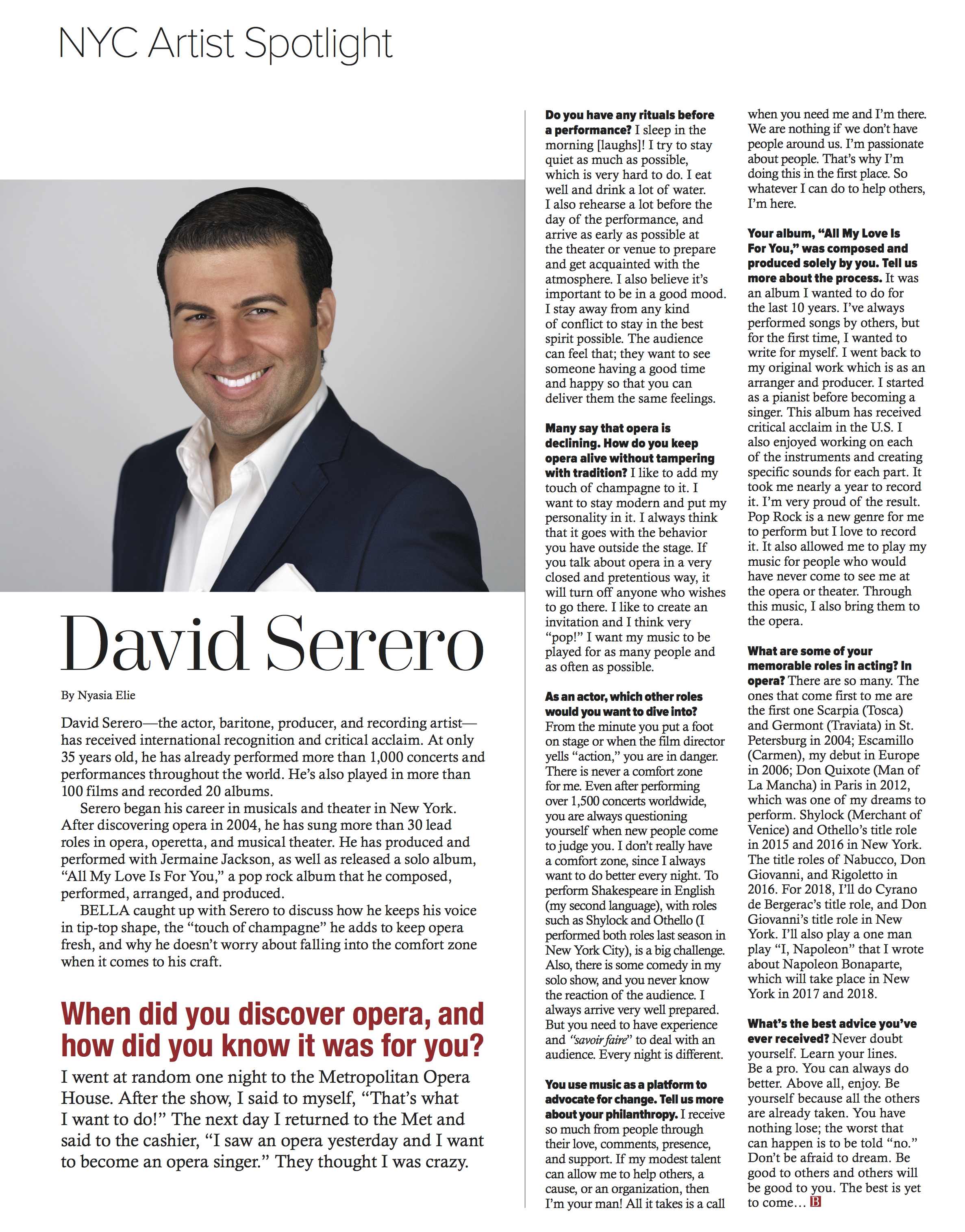 David Serero Bella 2017