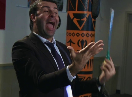 DAVID SERERO plays a music teacher int he comedy OVERLOAD ROCK OR DIE directed by Mark Aiello in New
