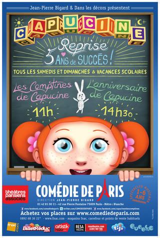 LES COMPTINES DE CAPUCINE, children musical, plays at the Comedie de Paris theater