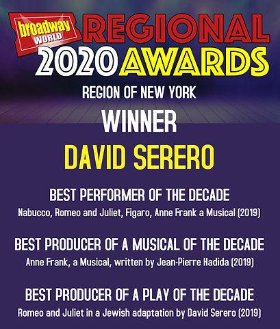 BroadwayWorld Awards winner David Serero
