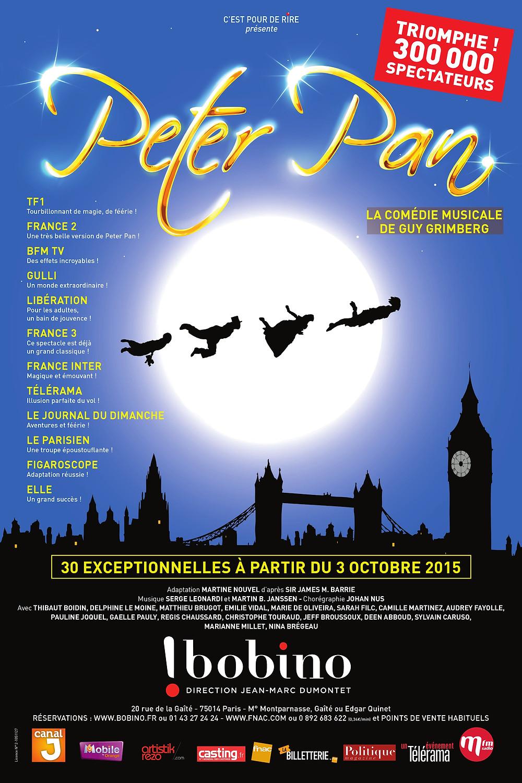 Peter Pan at Bobino Theater in Paris