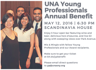 The UNA-SNY Young Professionals is having their prestigious Annual Benefit tonight