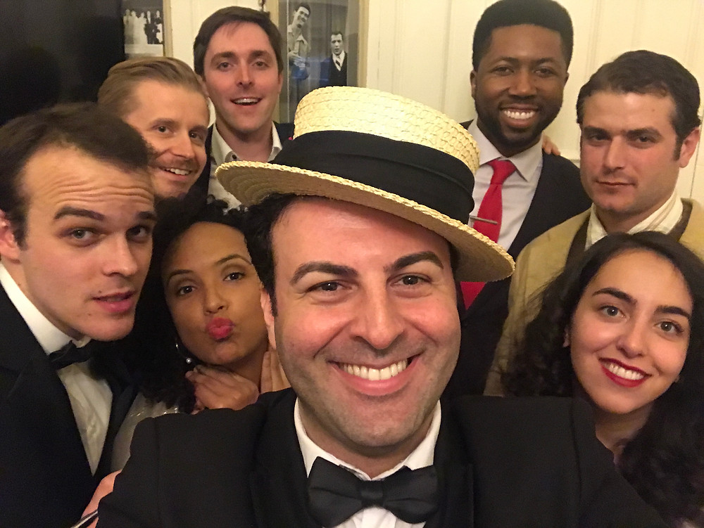 Cast of Maurice Chevalier with David Serero