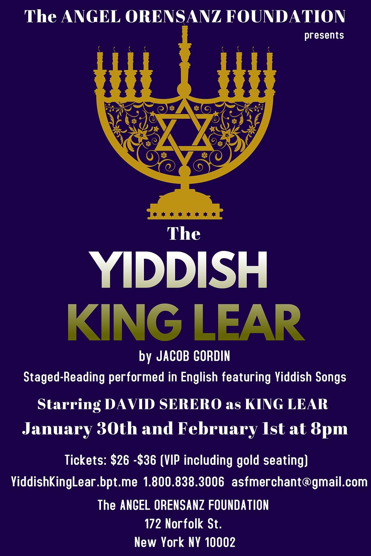 The Yiddish King Lear (Jewish King Lear) by Jacob Gordin - Starring David Serero as Lear